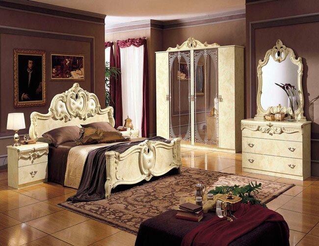 Стиль рококо в интерьере спальни